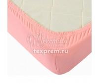 Простынь на резинке розовая, высота 20 см